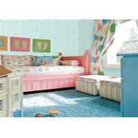 Buy cheap Healthy Embossed Kids Bedroom Wallpaper Moisture Proof With Light Green Color from wholesalers