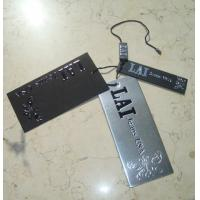 Buy cheap custom plastic hang tags silver gift tags paper luggage tags embossed logo from wholesalers
