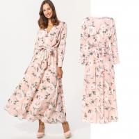 Buy cheap custom make new arrival style rose print long dress for woman from wholesalers