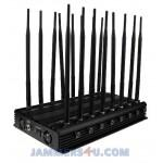 Buy cheap CT-2516 EUR 16 Bands 38W GSM CDAM 3G 4G 2.4Ghz 5Ghz GPS UHF VHF Jammer up to 50m from wholesalers