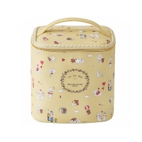 Buy cheap Barrel Shape Professional Travel Cartoon Printed PU Leather Cosmetic Bag from wholesalers
