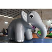 Buy cheap Customized Airtight Standing Inflatable Elephant Cartoon For Commercial Activity product