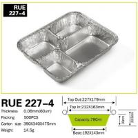 Buy cheap 4 Compartment Aluminum foil container four zone for restaurant fast food kitchen use from wholesalers