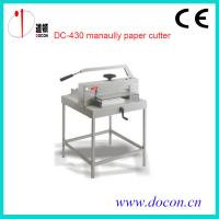 Buy cheap DC-430 manually paper cutter from wholesalers