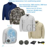 Buy cheap Factory Fan Air Conditioning jacket Summer Site Outdoor Camouflage Cooler Fan Clothes Fireproof Welding Cooling Ice coat from wholesalers