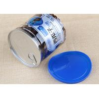 Buy cheap Blue Plastic Cap Clear Plastic Cylinder Aluminium Easy Open Can Packaging 700ml from wholesalers