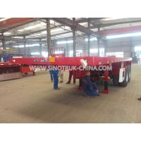 Buy cheap 2 Alxe Flatbed Semi Trailer28t Support Leg To Load 20 Feet Container 8 Pcs Lock from wholesalers