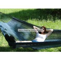 Buy cheap Backyard Patio Black Hand Woven Mayan Hammock , Non Spreader Bar Woven Rope Hammock For Adults from wholesalers