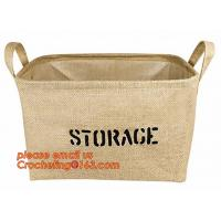 Buy cheap 100% jute storage basket,natural jute material collapsible decorative storage basket,Home handmade jute woven rope toy s from wholesalers