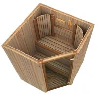 Buy cheap Cedar spa sauna electric , traditional sauna room for weight loss product
