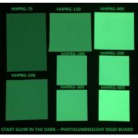 Buy cheap Glow in the dark rigid board Photoluminescent rigid PVC sheet HHPRG-series used in safety sign from wholesalers