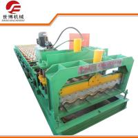 Buy cheap Zinc Steel Glazed Tile Aluminium Roofing Sheet Making Machine 1000 With Hydraulic Cutting from wholesalers