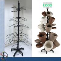 Buy cheap Flowerpots Display Stand / garden pots display rack / Metal Floor Display Stand / round hooks display rack from wholesalers