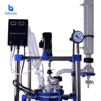 Buy cheap 1L-200L double layer high borosilicate glass reactor for distillation and from wholesalers