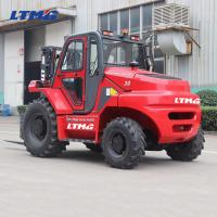 Buy cheap 2000kg Compact Rough Terrain Forklift 2WD YANMAR Engine Side Shifter Optional from wholesalers