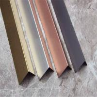 Buy cheap China supplier stainless steel angle tile trim(stainless steel, grade 304, hairline finish) from Wholesalers