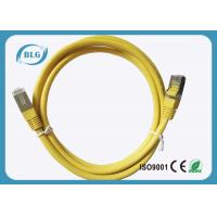 Buy cheap 50μM STP Patch Cord 2% Max Resistance Unbalance With Yellow Color 24AWG from wholesalers