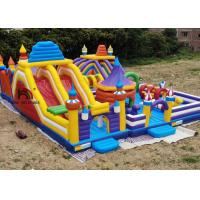 Buy cheap Outdoor 20mL Yellow Rocket Inflatable Amusement Park For Kids Use Logo Printing from wholesalers