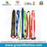 Buy cheap Custom printed water bottle lanyard holders, neck lanyard with plastic bottle holder from wholesalers