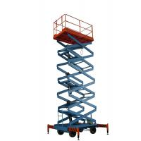450Kg AC / DC adjustable extension heavy duty scissor lift with four wheel , customized