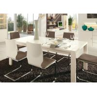 Buy cheap White Gloss 6 Seater Dining Table , Modern Dining Room Tables Strong Structure from wholesalers