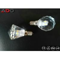 China Pure Light Color Crystal Clear Light Bulbs , E14 Led Candle Lamps Dimmable on sale
