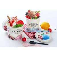 Buy cheap Own Logo Disposable Paper Icecream Ice Cream Cup,Disposable Plastic Cold Drink Icecream Pearl Milk Tea Cup bagease pack from wholesalers