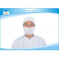 Buy cheap Anti-static Fabric Apparels Accessories Custom ESD Cap Yellow / White from wholesalers