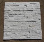 Buy cheap Natrual white quartz quartzite veneer cladding panel cultured stone stacked stone ledge stone glued wall panel flageston from wholesalers