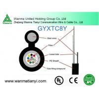 Buy cheap Self-support aerial GYXTC8Y Outdoor Loose Tube fiber optical Cable product
