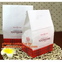Buy cheap Customize Translucent Window Brown Greaseproof Kraft Paper Bag Special Opp Window Shape, window bags, greaseproof paper from wholesalers