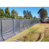 Buy cheap Temporary Acoustic Fence PVC membrane layer waterproof 40dB noise reduction 800mm*2100mm for temporary fence from wholesalers