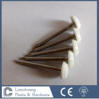 Buy cheap 40mm SUS316 Ring shank Plastic Cap Nail for fixing Cappit,  Fascia , Soffit from wholesalers