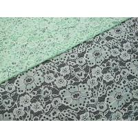 Buy cheap Custom Durable Cotton Nylon Embroidered Lace Fabric Green Flower Pattern from wholesalers