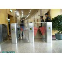 Buy cheap Samrt  304 Stainless Steel Blue Wing Turnstiles With IR Sensor  Control from wholesalers