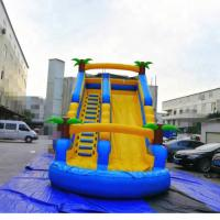 Buy cheap PVC Tarpaulin Inflatable Amusement Park Double Lane Blow Up Slide For Sports Game from wholesalers
