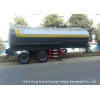 Buy cheap Dual Axle 32 Ton Tank Semi Trailer Single Point Suspension For Hydrofluoric Acid / HCL from wholesalers