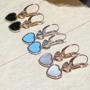 Buy cheap 18K Gold Chopard Jewelry , Chopard Happy Diamond Heart Earrings With Gems product