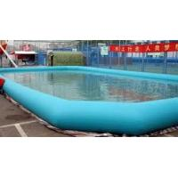 Buy cheap Blue color 7 x 6 meter PVC tarpaulin kids inflatable swimming pools for zorb ball from wholesalers