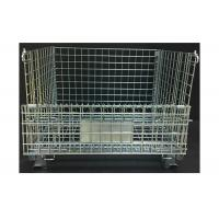 Buy cheap Heavy Duty Rigid Wire Mesh Container 800KG Loading Capacity Foldable Type from wholesalers