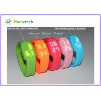Buy cheap 2GB to 32GB USB Flash Drive Multifunctional Silicon Bracelet LED Watch USB with Tf Card Slot product