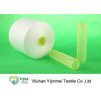 Buy cheap 100% Virgin Polyester Ring Spun Yarn / Dope Dyed Tube Yarn Crease Resistant product