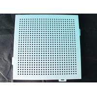 Buy cheap Noiseproof Acoustic Perforated Metal Ceiling Panels / Round Hole Punched Tiles 2 x 2 from wholesalers
