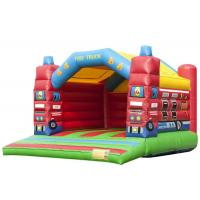 Fire Truck Inflatable Blow Up Jump House , Indoor Inflatable Bouncer 6.5 * 5.2 * 4.5m