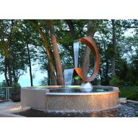 Buy cheap Contemporary Corten Steel Water Feature Fountain C Shape For Outdoor from wholesalers