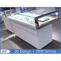 Buy cheap Simple Nice Wooden Glass  Gloss White Jewellery Shop Counter from wholesalers