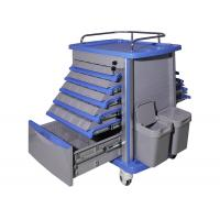 Buy cheap Easy Cleaning Plastic Medical Trolley , Emergency Medicine Trolley Moving Smoothly from wholesalers