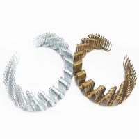 Buy cheap Anti Rust Zig Zag Sofa Springs Black / Silver / Golden Color High Carbon Steel Wire from wholesalers