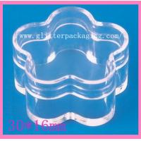 Buy cheap 5g Flower Quincunx plastic empty clear jar nail art tool cosmetics container from wholesalers