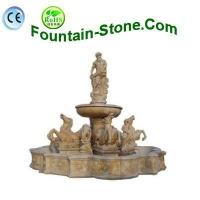 Buy cheap Beige Travertine Horse Statuary Water Fountain In European Style from wholesalers